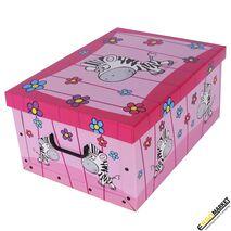 Παιδικό κουτί αποθήκευσης χάρτινο Savana Animals Ζέβρα 25Lt