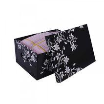 Κουτί αποθήκευσης χάρτινο Flower Print 25Lt Μαύρο