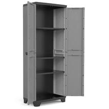 Stilo High Πλαστική ντουλάπα δίφυλλη με 3 ράφια KIS