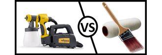 Πιστόλι βαφής ή ρολό και πινέλο; Ποιος είναι ο καλύτερος τρόπος να βάψετε;