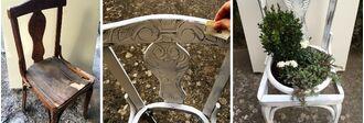 Ανακυκλώστε μια σπασμένη καρέκλα μετατρέποντάς την σε γλάστρα