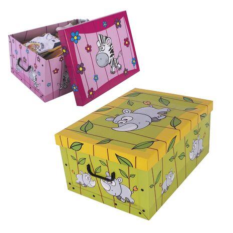 Παιδικό κουτί αποθήκευσης χάρτινο Savana Animals 25Lt
