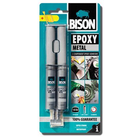 Συγκολλητικό μετάλλων δυο συστατικών Bison epoxy metal 24ml