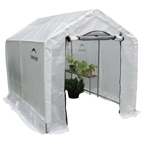 Peak Backyard Θερμοκήπιο κήπου με ράφια Shelter Logic 1.8 x 2.4 x 2 m
