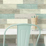 Αυτοκόλλητη ταπετσαρία τοίχου εσωτερικού χώρου παλαιωμένου ξύλινου εφέ μπλε