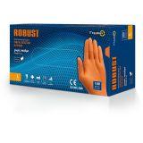 Γάντια νιτριλίου πορτοκαλί μεγάλης αντοχής Robust