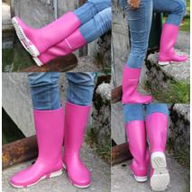 Γυναικεία αδιάβροχη γαλότσα ροζ Dunlop sport pink 019