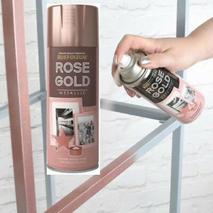 Σπρέι βαφής ροζ χρυσό με μεταλλικό εφέ Rust Oleum Metallic Rose Gold 400ml
