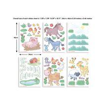 Baby on the farm stickers σέτ βαλιτσάκι με αυτοκόλλητα τοίχου