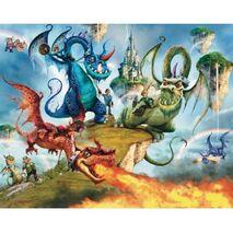Ταπετσαρία Knights & Dragons Ιππότες και δράκοι