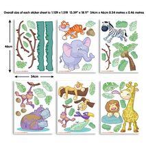 Baby jungle safari stickers σέτ βαλιτσάκι με αυτοκόλλητα τοίχου