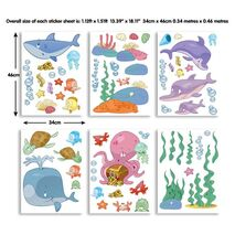 Baby Under the sea stickers σέτ βαλιτσάκι με αυτοκόλλητα τοίχου