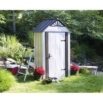Designer series Αποθήκη κήπου metro Arrow μεταλλική 4x2