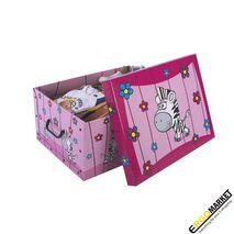 Παιδικό κουτί αποθήκευσης χάρτινο Savana Animals Ρινόκερος 25Lt