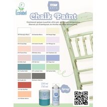 TITAN 250ml Chalk Paint Χρώμα Κιμωλίας