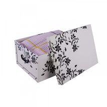 Κουτί αποθήκευσης χάρτινο Flower Print 25Lt Λευκό