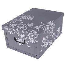 Κουτί αποθήκευσης χάρτινο Flower Print 25Lt Γκρι