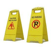 wet floor -no parking