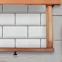 Αυτοκόλλητα πλακάκια τοίχου εσωτερικού χώρου σε λευκό χρώμα