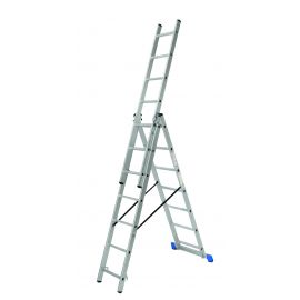 CE 3X6 1 Πτυσσόμενη σκάλα αλουμινίου