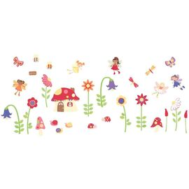 Fisher Price Enchanted-Garden σέτ βαλιτσάκι με αυτοκόλλητα τοίχου