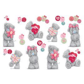 Αυτοκολλητο mini tatty teddy love