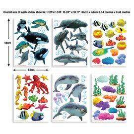 Sea adventure stickers σέτ βαλιτσάκι με αυτοκόλλητα τοίχου