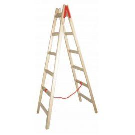 Ξύλινη επαγγελματική διπλή Σκάλα 1,5μ. εώς 4.00μ.