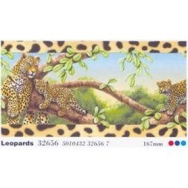 Αυτοκόλλητη μπορντούρα  animals of theleopards 32656