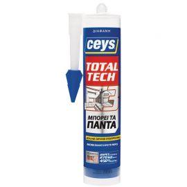 Κόλλα διάφανη φύσιγγα Total Tech Ceys 290ml