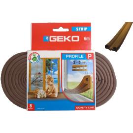 Αεροστόπ Geko Μονωτικό λάστιχο πορτών & παραθύρων 6m