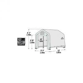 Growit in a box Θερμοκήπιο κήπου με ράφια Shelter Logic 3x3x2.4m