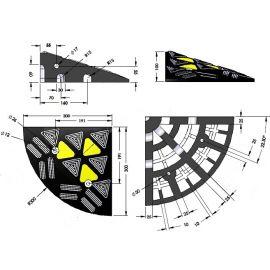 Ακριανό ράμπας πεζοδρομίου ελαστικό 10cm Doorado PARK-DH-UP-1E