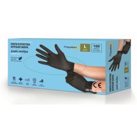 Γάντια νιτριλίου μαύρα Light Mopatex μεγάλης αντοχής Glovely Black 100 τμχ