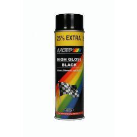 Σπρέι ακρυλικό χρώμα Μαύρο γυαλιστερό Motip 500ml