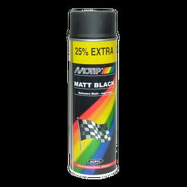 Σπρέι ακρυλικό χρώμα Μαύρο Ματ Motip 500ml