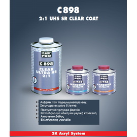 clear_Βερνίκι C898 ακρυλικό ταχυστέγνωτο