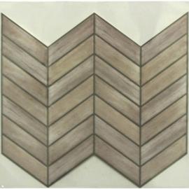 Αυτοκόλλητα πλακάκια τοίχου chevron distressed wood εσωτερικού χώρου