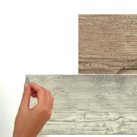 Αυτοκόλλητη ταπετσαρία τοίχου εσωτερικού χώρου παλαιωμένου ξύλινου εφέ