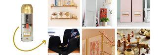 10 IKEA Hacks με χρυσό χρώμα σε σπρέι..!