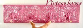 DIY Vintage κρεμάστρα τοίχου με ανάγλυφα σχέδια