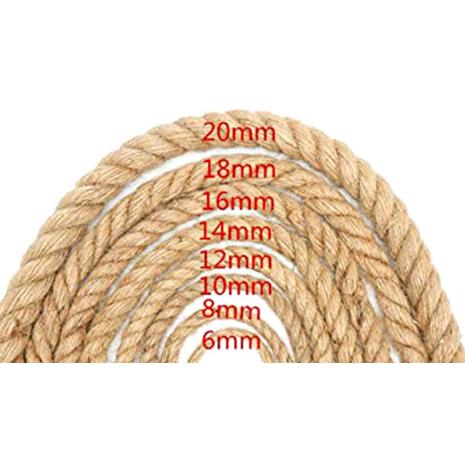 Διακοσμητικό σχοινί γιούτα 10mm