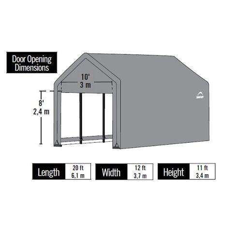 Στέγαστρο γκαράζ Garage Series 3,7x6,1x3,3m