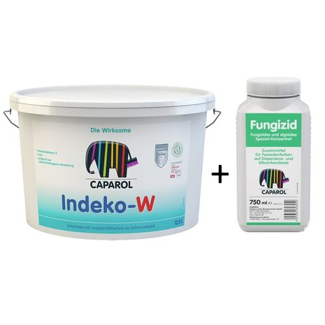 Indeko-W Αντιμουχλικό χρώμα και Fungizid Αντιμουχλικό διάλυμα Caparol 2,5Lt + 750ml