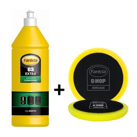 G3 Extra Plus αλοιφή λείανσης + σφουγγάρι γυαλίσματος GMC624 Farecla 1kg