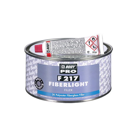 F217 Πολυεστερικός σιδηρόστοκος δυο συστατικών με ίνες υάλου HB Body 500ml