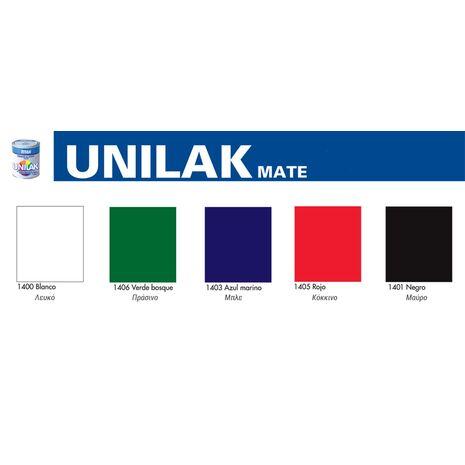 Χρωματολόγιο Unilak Matt Ντουκόχρωμα νερού ματ πολλαπλής πρόσφυσης TITAN