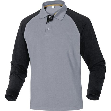 Μπλουζάκι πόλο μακρυμάνικο 100% βαμβάκι Turino Delta Plus