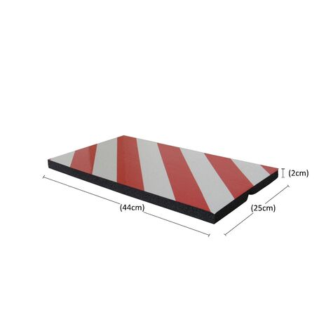 Προστατευτικό γωνιών γκαράζ αφρώδες αυτοκόλλητο Doorado PARK-FCP5025RW